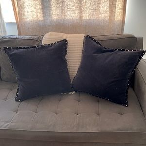 Two West Elm Pillow Covers